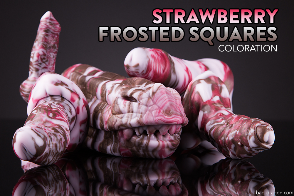 Dessert Colors - Strawberry Frosted Squares